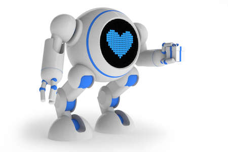 Robot in love photo