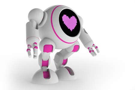 Girl robot in love Stock Photo - 14269666
