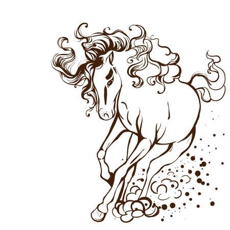 mare: Running horse Illustration