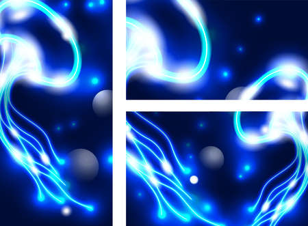 Shimering medusa design template Stock Vector - 15480353