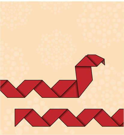 origami snake: Origami snake Illustration
