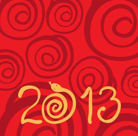 2013 snake red background Stock Vector - 15523400