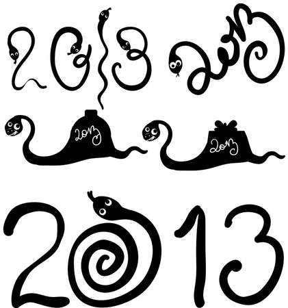 2013 snakes set Stock Vector - 15523401