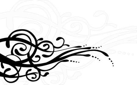 Floral background template Illustration