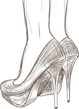 Zapatos de dibujo Ilustración de vector
