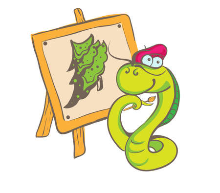 Snake painter Vector