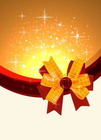 Shiny gift bow design template Vector