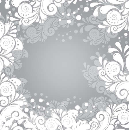 Frosty winter ornament Vector