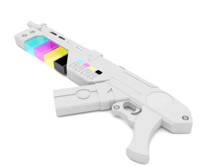 formats: Color gun Stock Photo