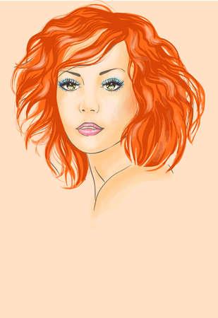 redhead woman: Bella donna rossa