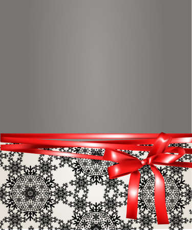 silver ribbon: Christmas gift background