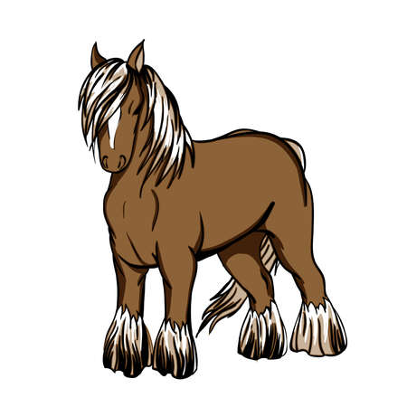 light brown hair: Shire, the draft horse