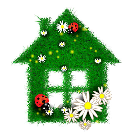 House  made of grass Stock Photo