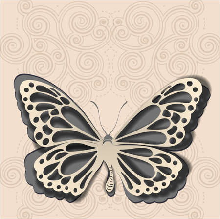 butterfly background: Paper butterfly Illustration