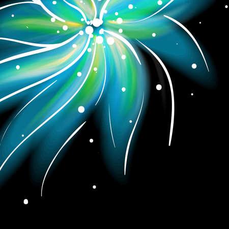Shiny blue flower background Stock Vector - 16559818