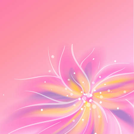 Shiny pink flower background Stock Vector - 16584994