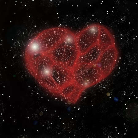 Heart shaped nebula photo