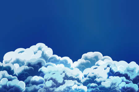 Cartoon style sky with clouds Stock Vector - 16682611