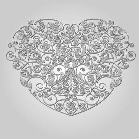 Handcraft paper ornamental heart photo