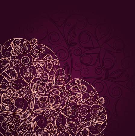 Vintage floral ornament heart design template Stock Vector - 16974737