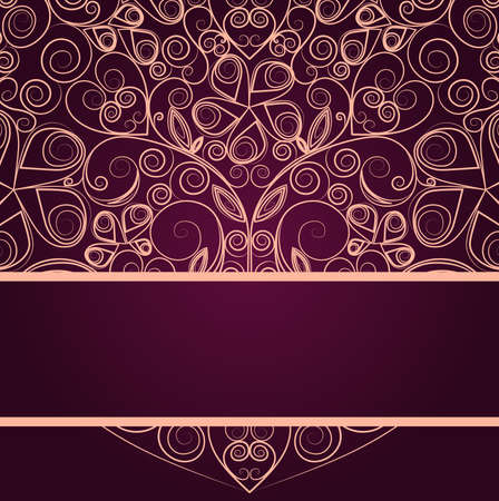 Vintage floral ornament heart design template Stock Vector - 16974736