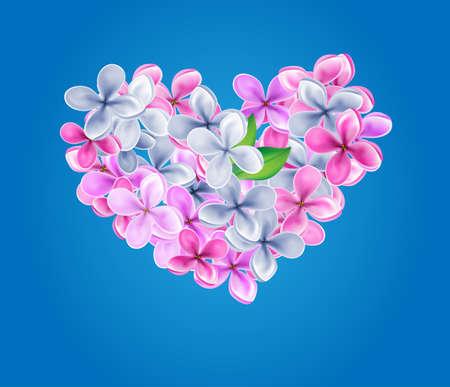 Heart made of lilacs