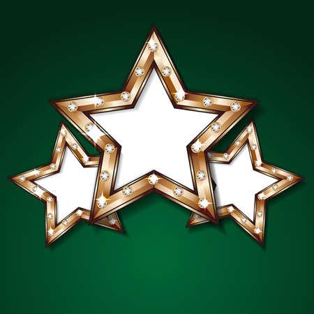 Shiny stars design template Stock Vector - 17255205