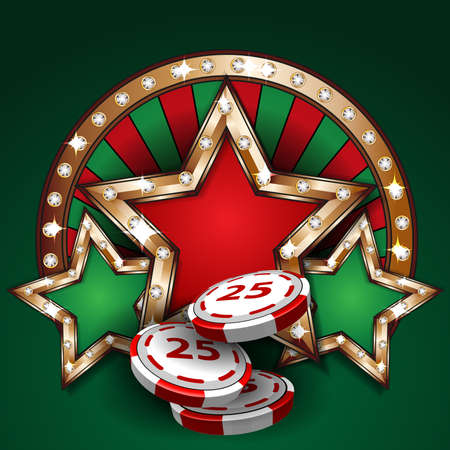 luck wheel: Gambling design tamplate