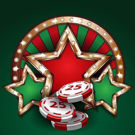 casino tokens: Gambling design tamplate