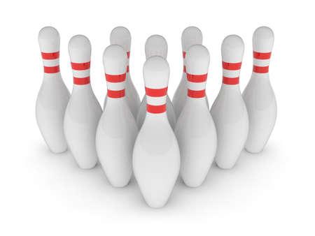 bowling alley: Bawling pins Stock Photo