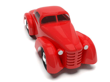 Red retro toy car photo