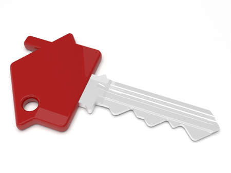 red door: House shaped key