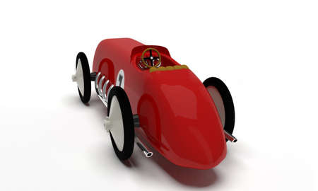 juguetes antiguos: Coche de juguete raza retro