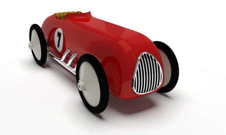 Toy retro race car