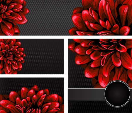 달리아: 우아한 꽃 무늬 디자인 템플릿