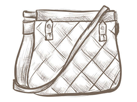 Women bag sketch Vector