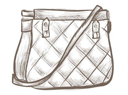 red purse: Women bag sketch