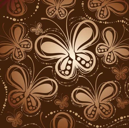 Butterfly pattern Stock Vector - 18047375