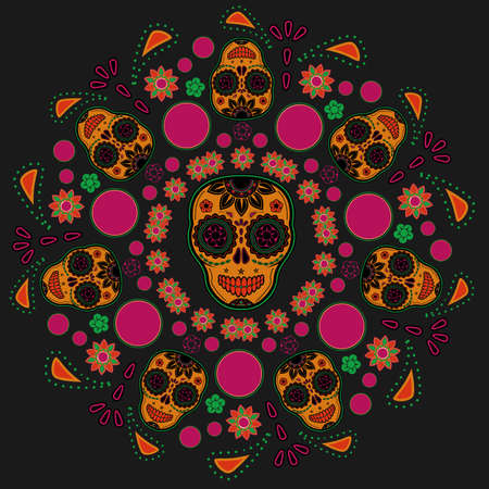 Sugar skull pattern Stock Vector - 18580043