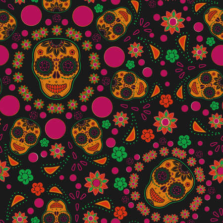 Sugar skull seamless pattern Stock Photo - 18647229