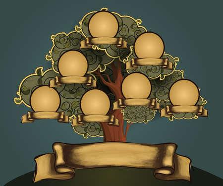 genealogical: Vintage estilo familiar gestor de dise�o de plantilla
