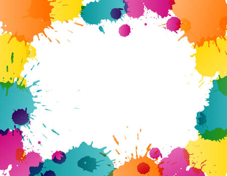 Colorful splatters template Stock Vector - 18707007