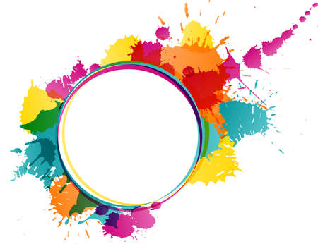 Colorful splatters template Vector
