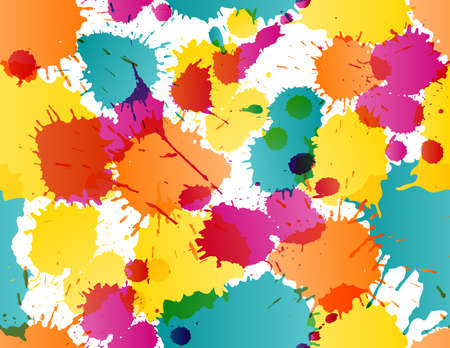Colorful splatters template Stock Vector - 18707012