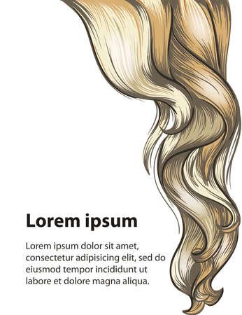 Estilo de pelo y el cuidado diseño de la plantilla del cabello