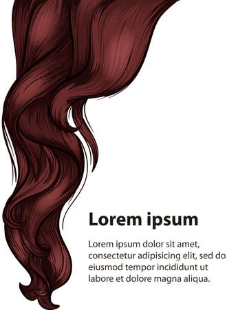 Hair style and hair care design template Illustration