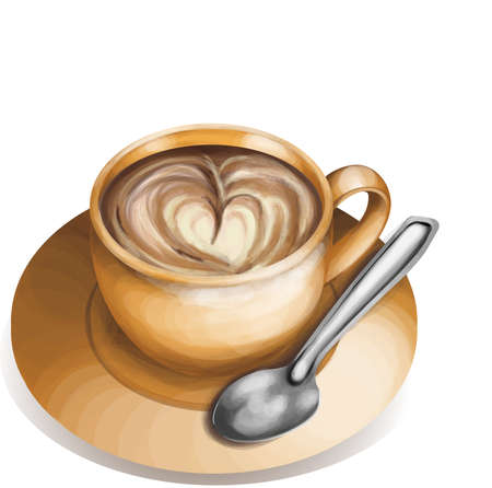 expresso: Cup of coffe isolated Illustration