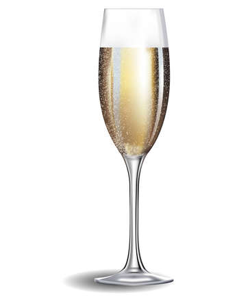 Champagne glass and isolated Stock Vector - 19473754