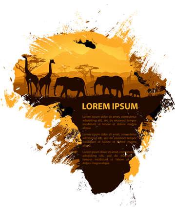 Afrika grungy Design-Vorlage
