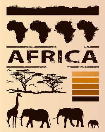 africa tree: African travel design template